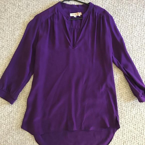 e1027f41960b6 Amanda Uprichard Tops - Amanda Uprichard Silk Purple Tunic Blouse